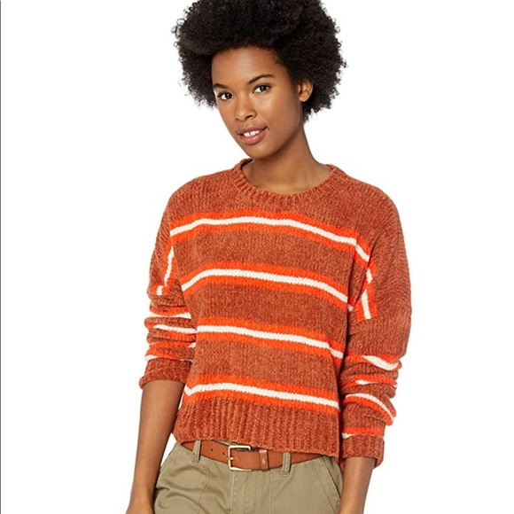 Volcom Striped The Favorite Cropped Sweater